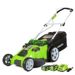 "GreenWorks 25302 Twin Force G-MAX 20"" 40V Cordless Lawn Mower"